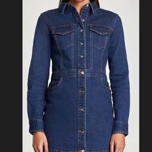 Zara button up denim dress size L